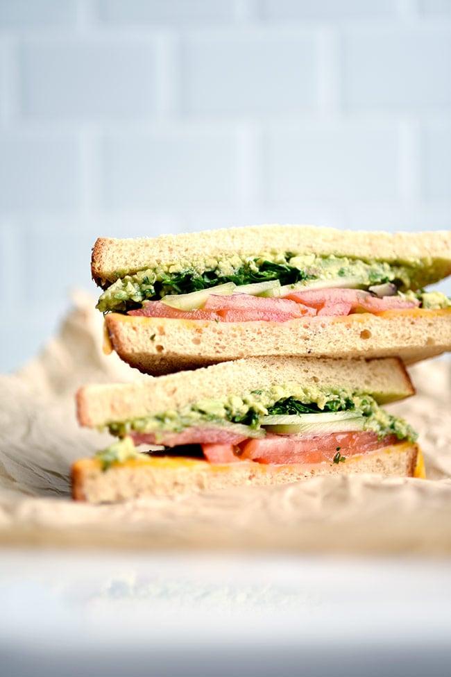 2- Minute Pesto Sauce Sandwich