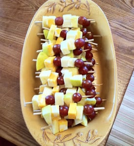 Fruit and Cheese Kebabs