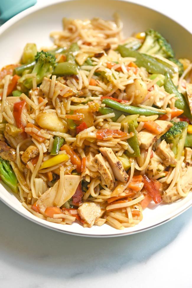 Easy Rotisserie Chicken Stir Fry