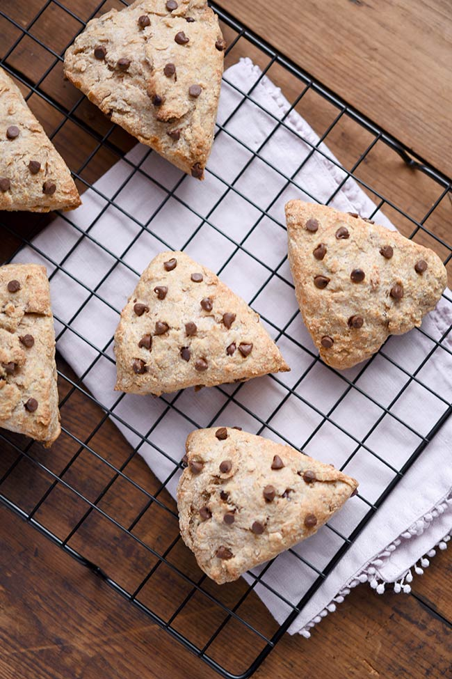 Choclate Chip Whole Wheat Scones