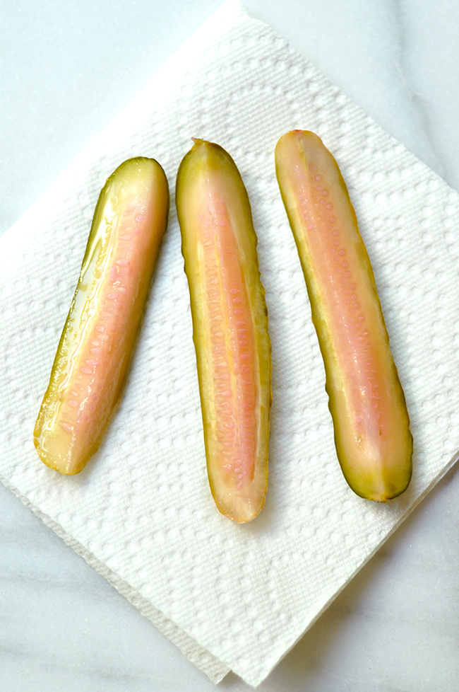Pink Refrigerator Dill Pickles