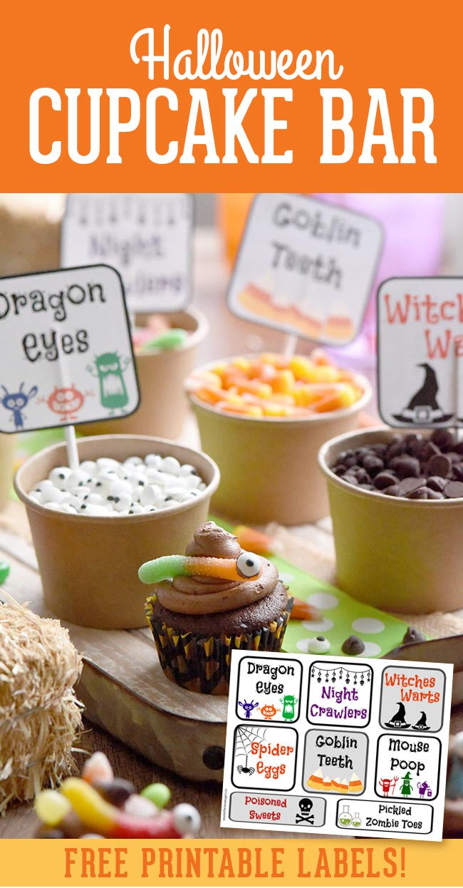 Halloween Cupcake Bar Printable