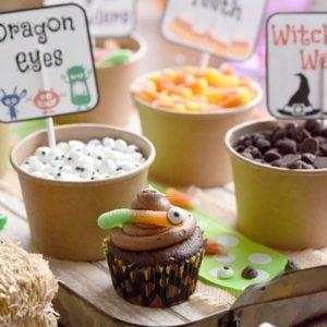Halloween Cupcake Bar - Free printable