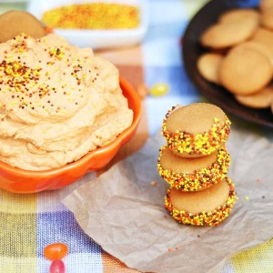 Pumpkin Fluff Sandwiches - easy Halloween party snack