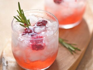 Rosemary and Blackberry Whiskey Sours