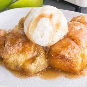 Easy Apple Dumplings with Crescent Rolls and Mountain Dew