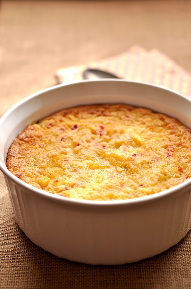 Baked Corn Casserole with Sour Cream