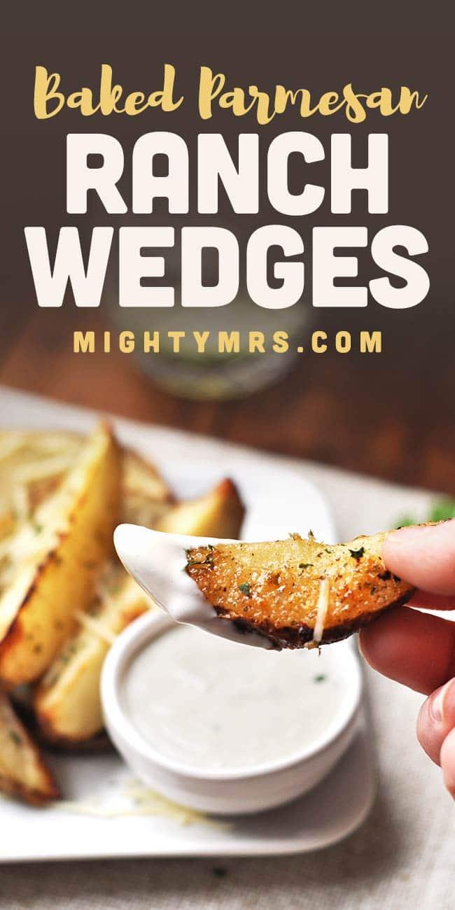 Baked Parmesan Ranch Potato Wedges