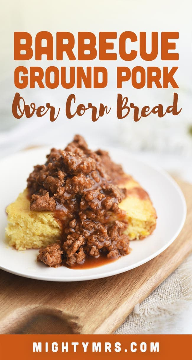 Southern Barbecue Pork-Topped Cornbread Pie