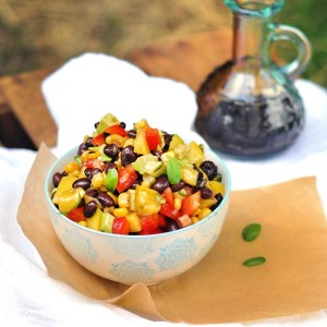 Basil-Mango Avocado Corn Dip