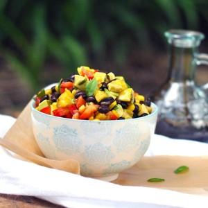 Black Bean Corn Cilantro Lime Avocado Salad