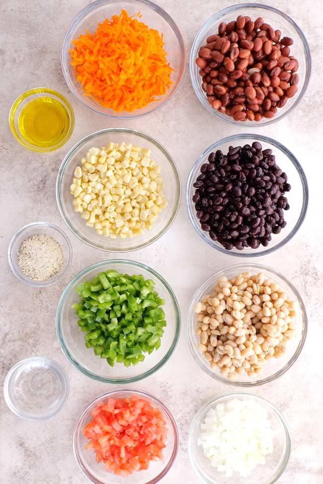 Cowboy Caviar Bean Dip Ingredients