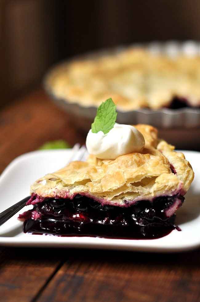 Puff Pastry Blueberry Pie