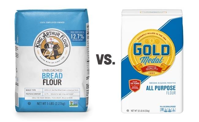 Bread Flour vs. All Purpose Flour