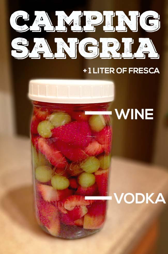 Camping Sangria (in a Mason Jar)