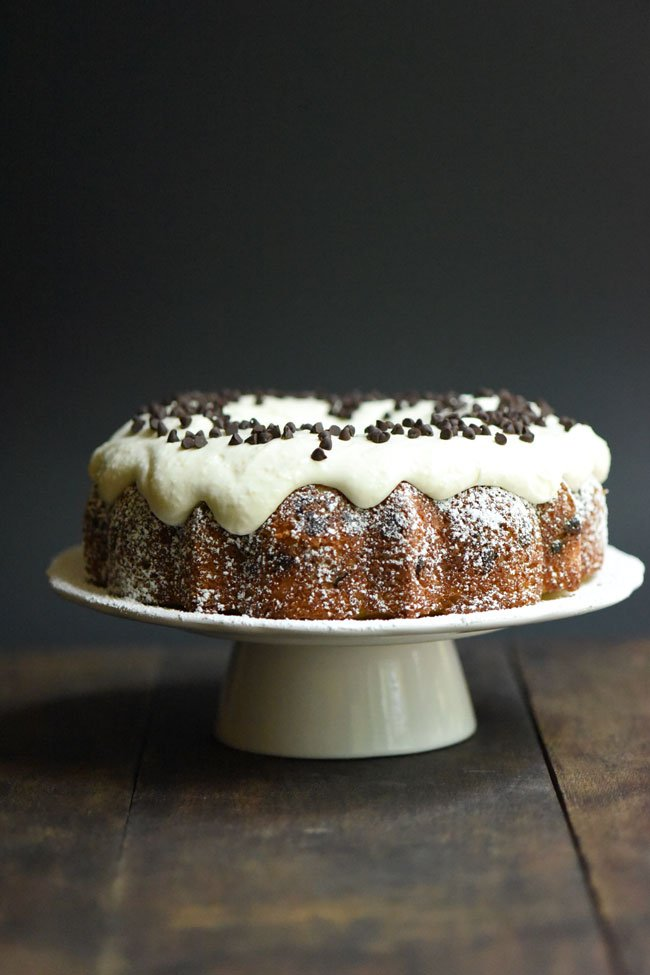 Cannoli Bundt Cake with Chocolate Chips
