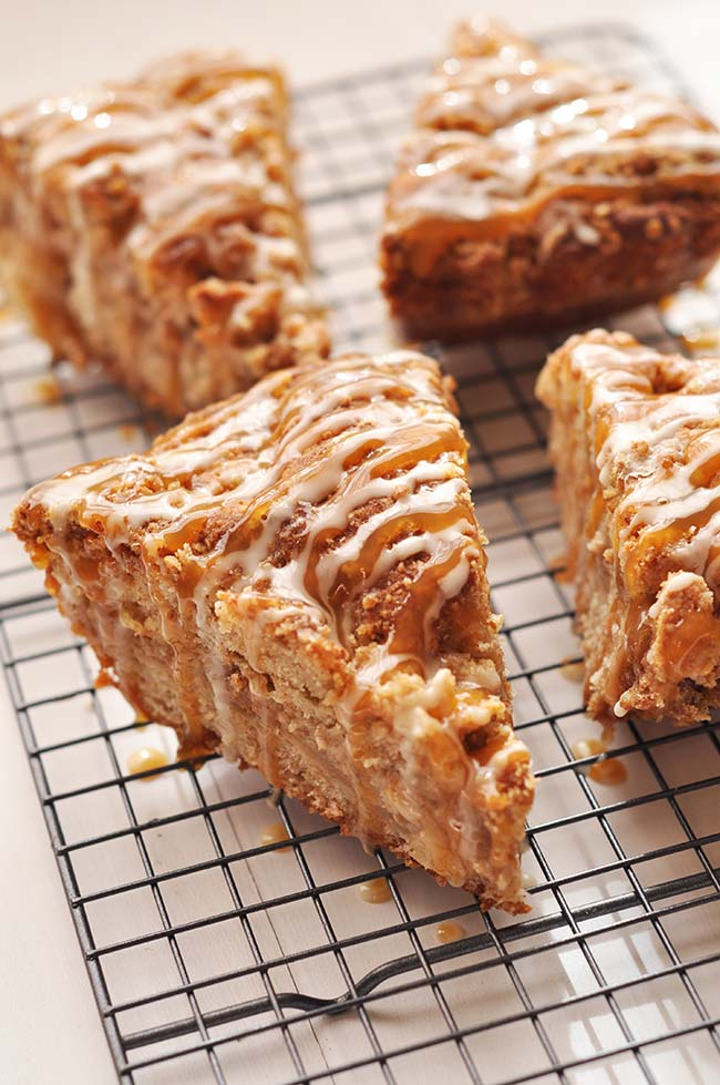 Caramel Apple Crumb Cake - Made Healthy