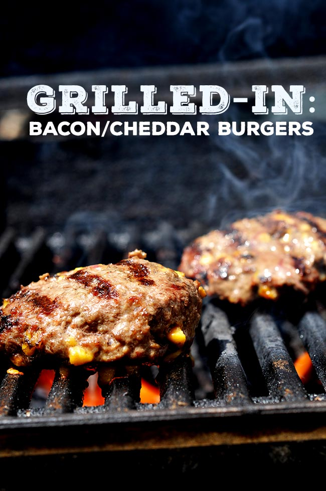 Grilled-in Bacon/Cheddar Burger #shop