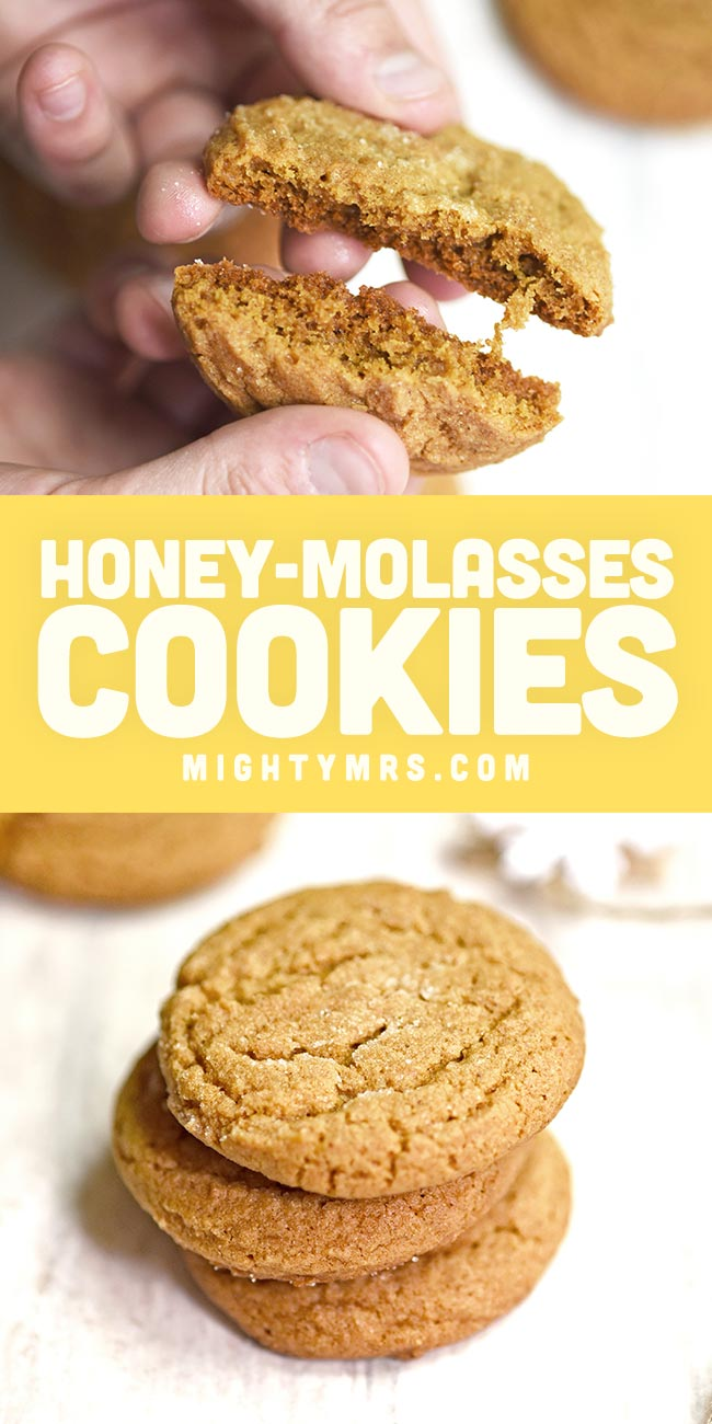 Soft Honey Molasses Cookies