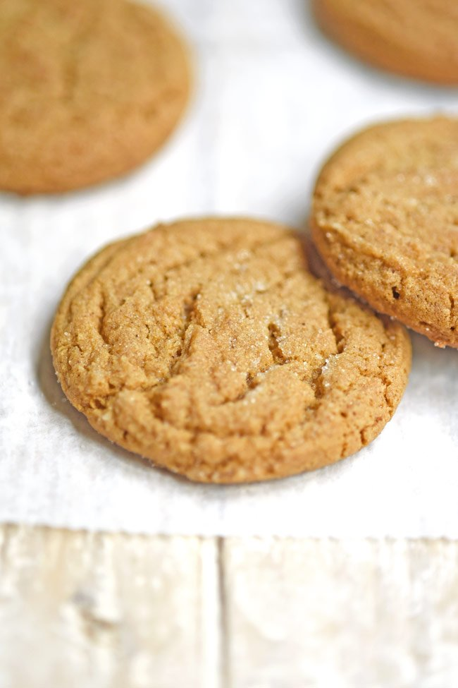 Crinkle Top Honey Molasses Cookies