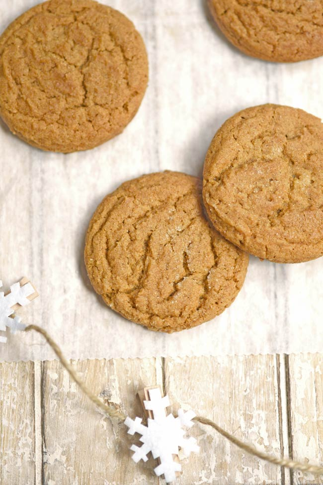 Chewy Honey Molasses Cookies with Ginger