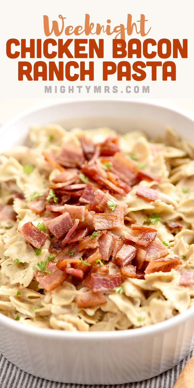 Chicken Bacon Ranch Bow Tie Pasta