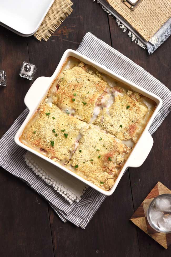 Easy Chicken Cordon Bleu Casserole