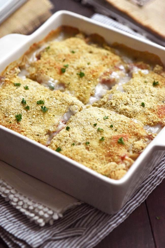 Chicken Cordon Bleu Casserole - 4 servings