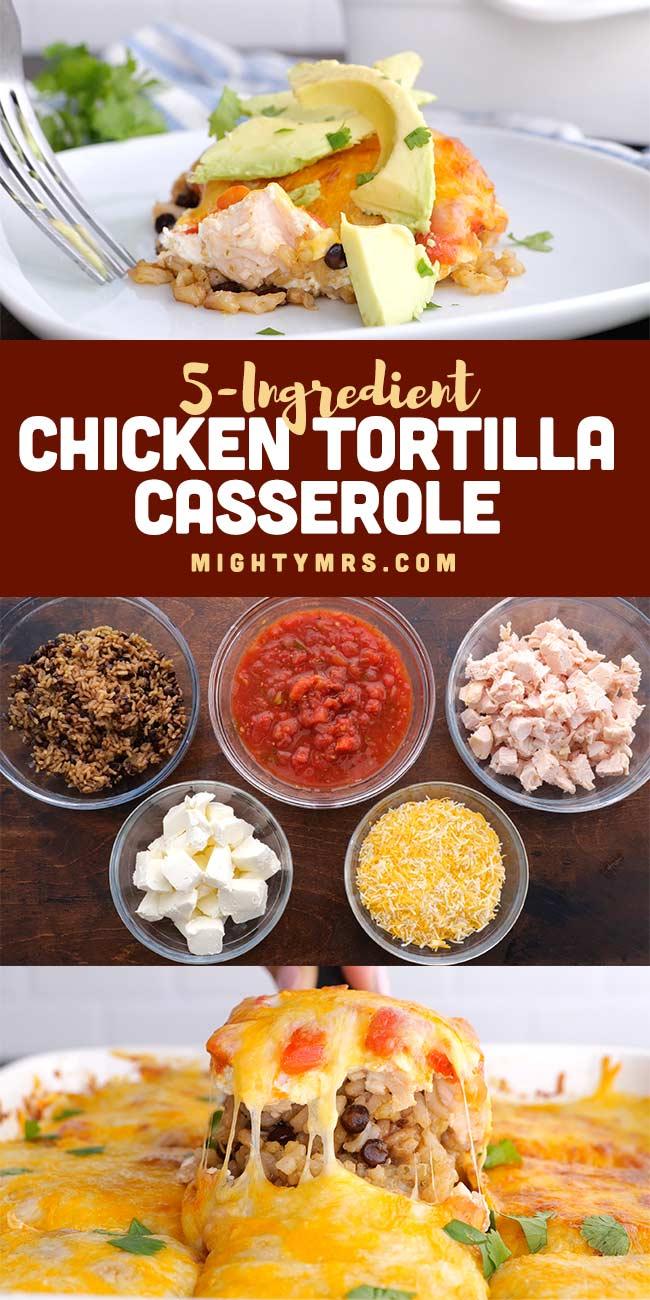 5-Ingredient Chicken Tortilla Casserole