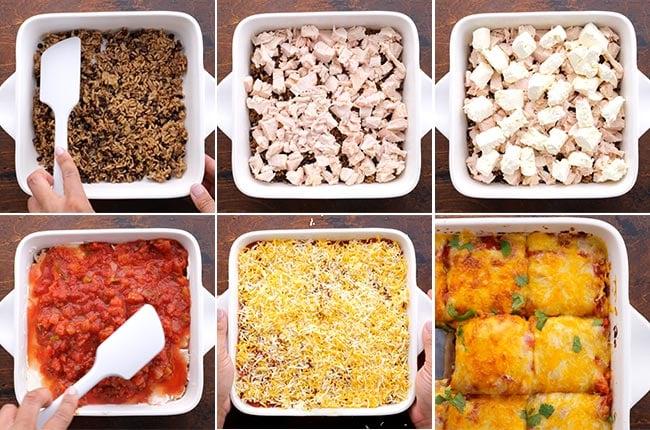 5 Ingredient Layers for Chicken Tortilla Casserole
