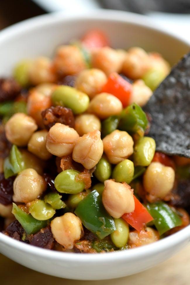 Chickpea Edamame Salad