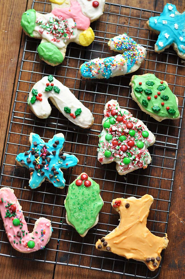 Christmas Cutout Cookies With Buttercream Frosting