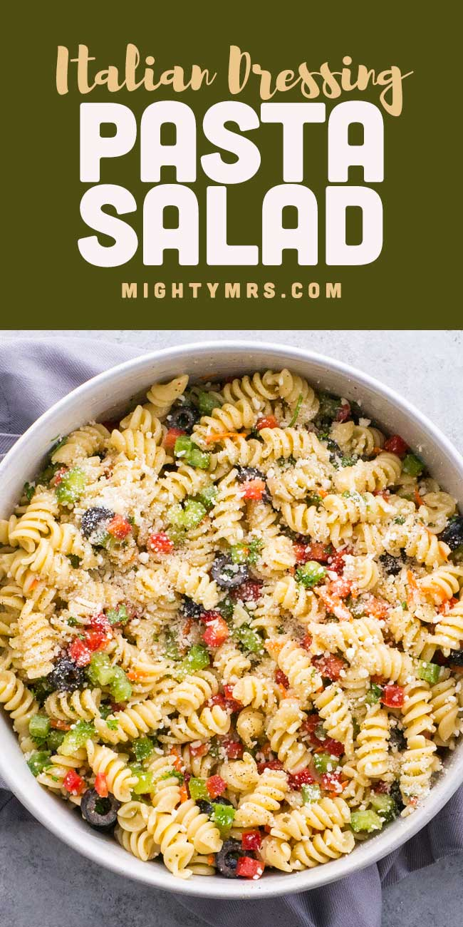 Classic Italian Pasta Salad with Olive Garden Dressing