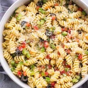 Classic Italian Pasta Salad with Olive Garden Dressing