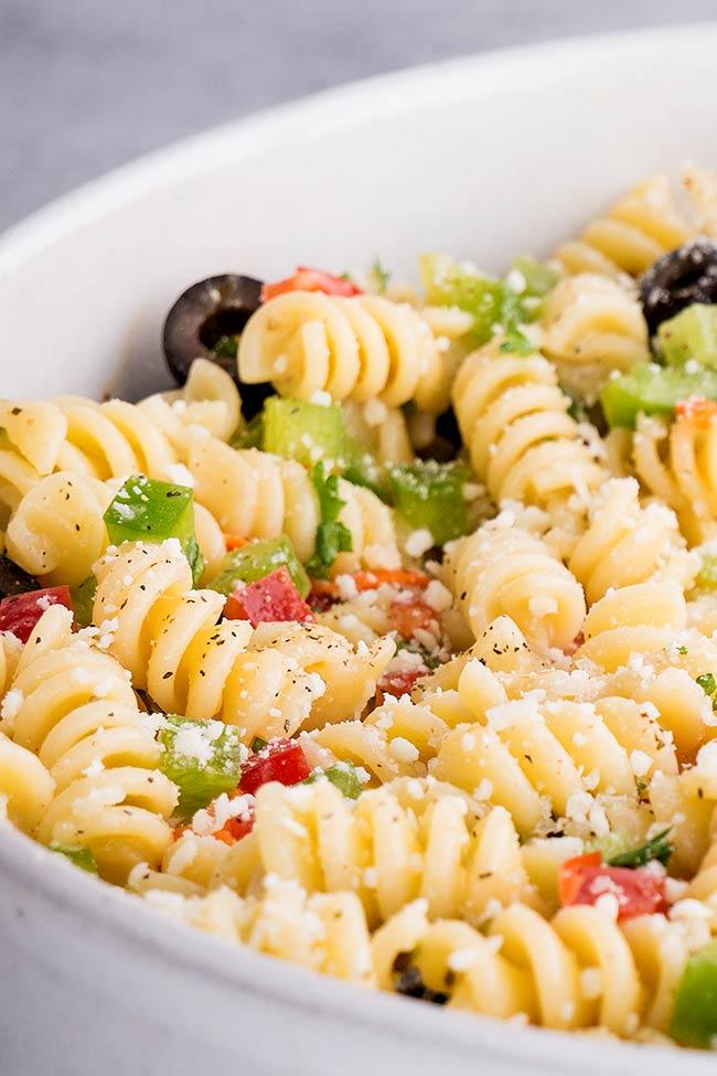 Close up Italian Pasta Salad