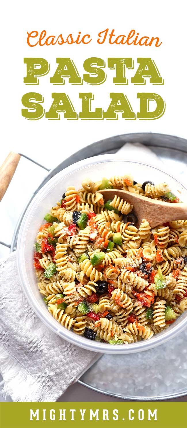 Classic Italian Pasta Salad with Olives