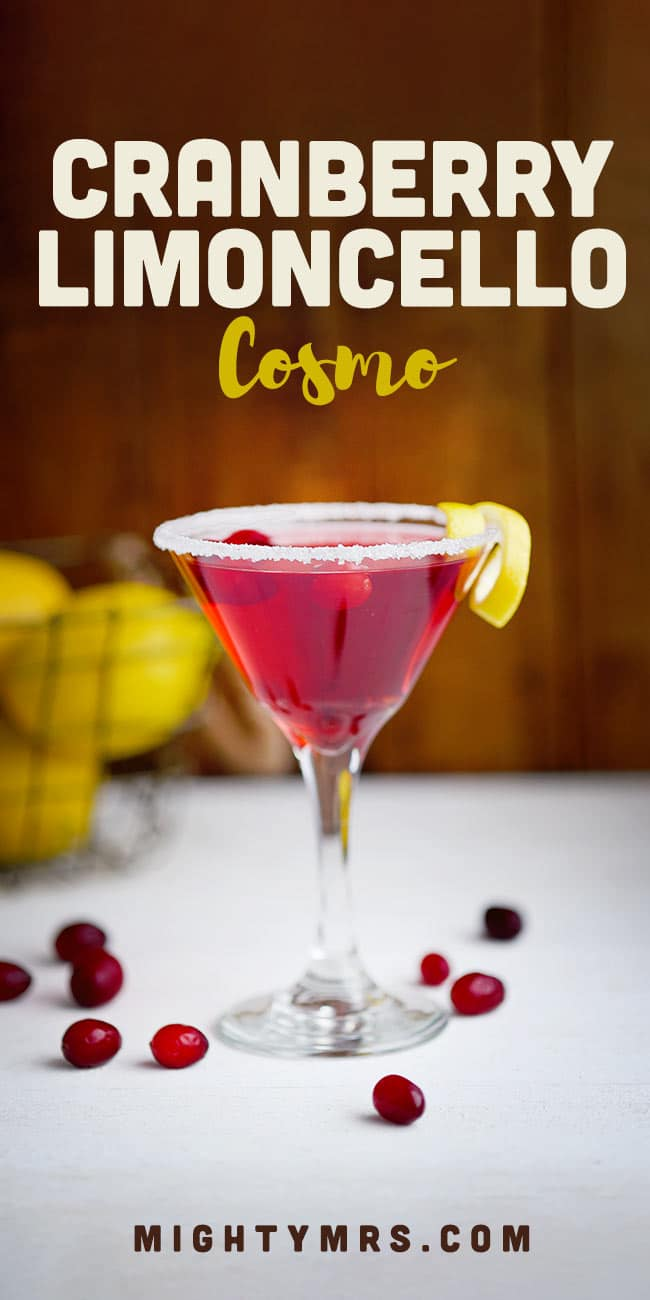 Best Cranberry Limoncello Cosmo