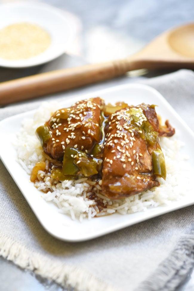 Crockpot Asian Sesame Chicken Thighs