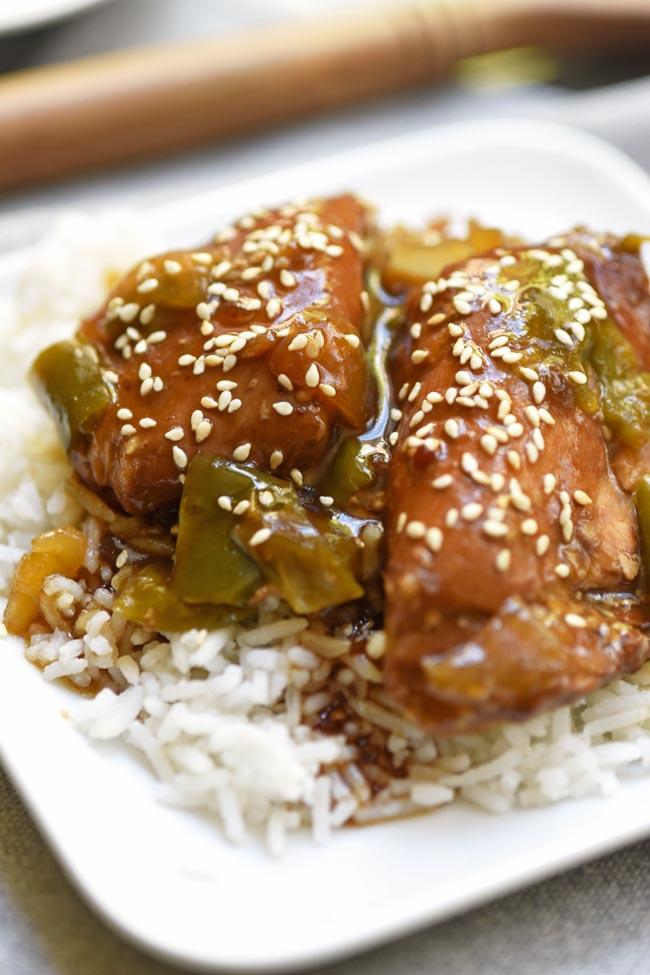 Crockpot Asian Sesame Chicken Thighs Mighty Mrs