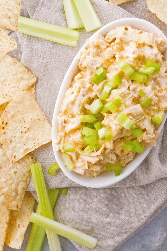 Crockpot Buffalo Chicken Dip with Ranch Dressing