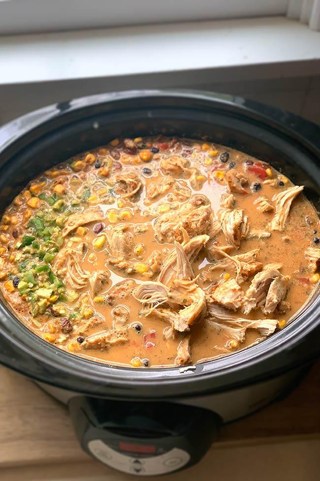 Crockpot with Chicken Tortilla Soup