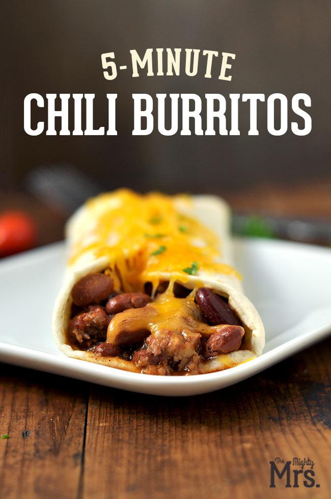 Leftover Chili Burritos