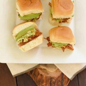 Curly's® Pulled Pork Hawaiian Roll Sliders on Tray
