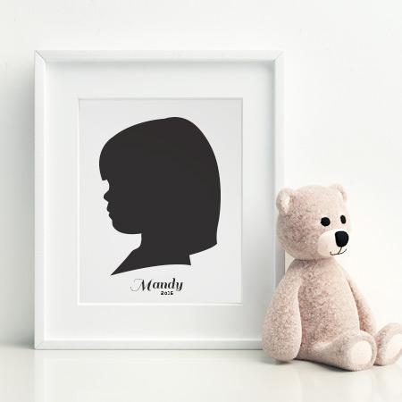 Custom Child Silhouette Framed Wall Art