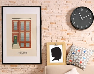 Custom house portraits and silhouettes