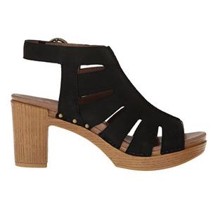 Dansko Black and Tan Leather Sandals