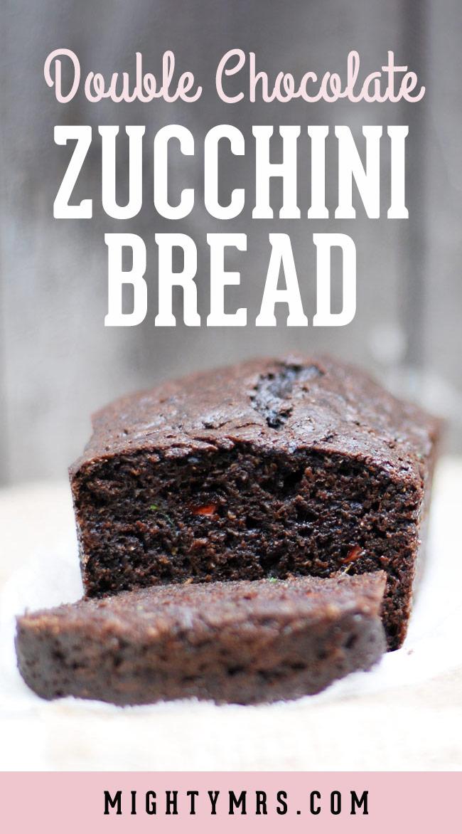 Duoble Choclate Zucchini Bread