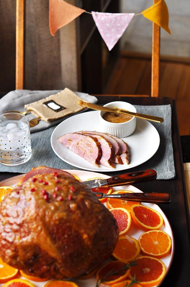 Orange-Marmalade-Glazed Ham - Easter Ham
