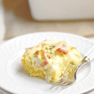 Easy Baked Eggs Benedict Casserole