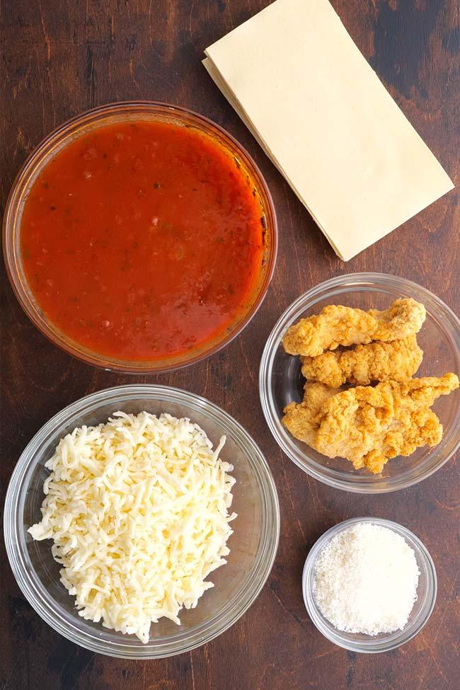 Chicken Parmesan Lasagna - 5 Ingredients
